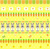 Child's seamless wallpaper with bunny and carrot v Royalty Free Stock Photography