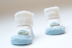 Child's slippers. The child's slippers, kids shoes Stock Images