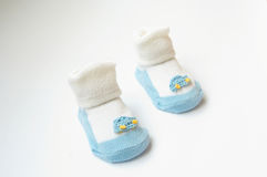 Child's slippers. Child's shoes, child's slippers Stock Photography