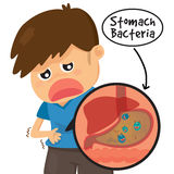 Child's stomach ache Stock Photography
