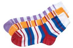 Child's striped socks Stock Images