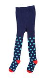 Child S Striped Tights. Royalty Free Stock Photos