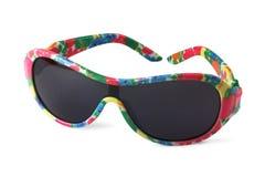 Child's sunglasses on white Stock Photos