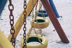 The child`s swing Royalty Free Stock Photos