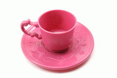 Child's teacup and saucer Royalty Free Stock Images