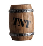Child's toy: barrel of TNT Royalty Free Stock Images