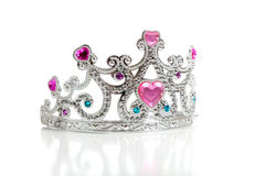 A child's toy princess tiara on a white. Background with copy space Stock Photography