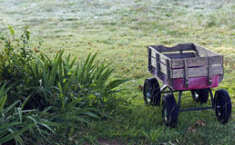 Child's toy wagon at dawn Stock Photo