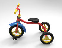 A child's tricycle 3D Stock Images