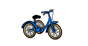 Child's tricycle illustration. Vintage style kids' tricycle Royalty Free Stock Images