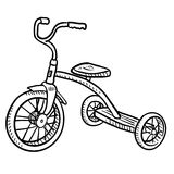 Child's tricycle sketch Stock Photos