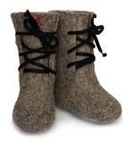Child's valenki - russian felt footwear Stock Photos