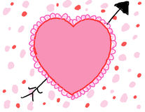 Child's Valentine's Day Background vector illustration