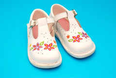 Child's walking shoes Stock Image