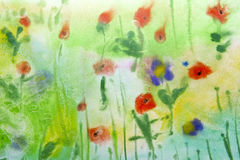 Child's Watercolor Drawing. Royalty Free Stock Photos