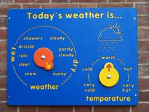 Child's weather board Royalty Free Stock Photography
