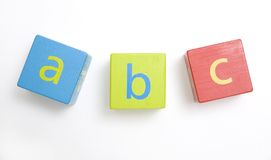 Child's wooden building blocks Royalty Free Stock Photos