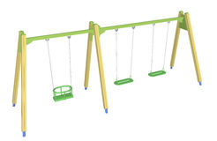 Child-safe swing, 3D illustration Stock Images