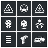 Child safety Icons. Vector Illustration. Royalty Free Stock Photos