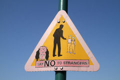 Child safety sign. Stock Image