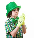 Child during Saint Patrick celebrations Stock Photography