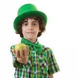 Child during Saint Patrick Celebrations Royalty Free Stock Photos
