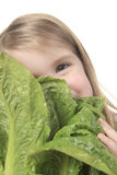 Child Salad Royalty Free Stock Photography