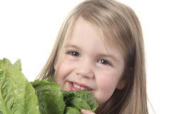 Child Salad Royalty Free Stock Photos