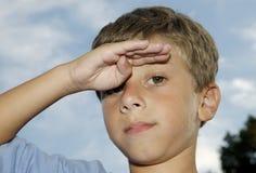 Child Salute stock photos