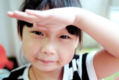 the child Salute Stock Photography