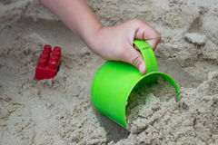 Child is sand Royalty Free Stock Photos