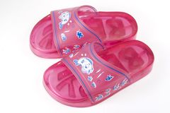 child sandal royaltyfri foto