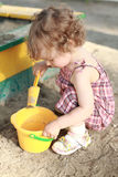 Child in sandbox Stock Photography
