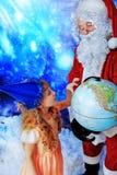 Child and santa Stock Photo