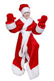 Child Santa Claus. The child dressed in suit Santa Claus on a white background Stock Photos