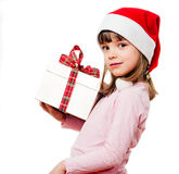 Child with Santa Claus hat Stock Images
