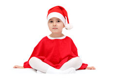 Child in santa claus hat Royalty Free Stock Photos