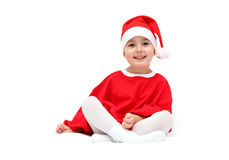 Child in santa claus hat Stock Image