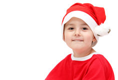Child in santa claus hat Royalty Free Stock Images