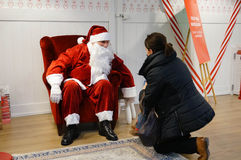 Child and Santa Claus Royalty Free Stock Images