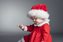 Child with santa cloths Royalty Free Stock Photography