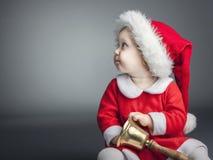 Child with santa cloths royalty free stock photos