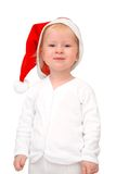 Child in Santa hat Stock Photo