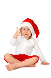 Child in Santa hat Stock Photography