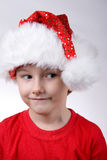 Child with Santa Hat Stock Photography