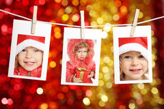 Child in Santa hat Royalty Free Stock Photography