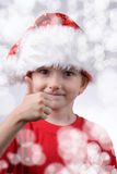 Child with Santa Hat Royalty Free Stock Photos