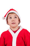Child with Santa Hat Royalty Free Stock Images