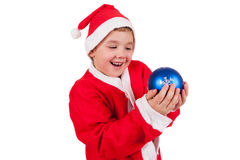 Child with Santa Hat Stock Image