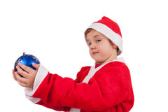 Child with Santa Hat Stock Photos